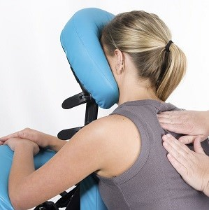 Local office employee chair massage for south florida companies.